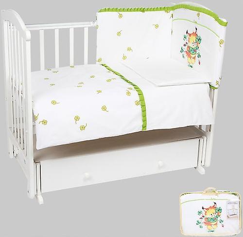 Комплект постельного белья в кроватку Leader Kids 7 предм. Белка с клевером Белый (1)