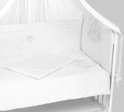 Комплект в кроватку Leader Kids 7 предметов Эмиль с мини-бортиками Белый (4)