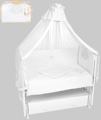 Комплект в кроватку Leader Kids 7 предметов Эмиль с мини-бортиками Белый (3)