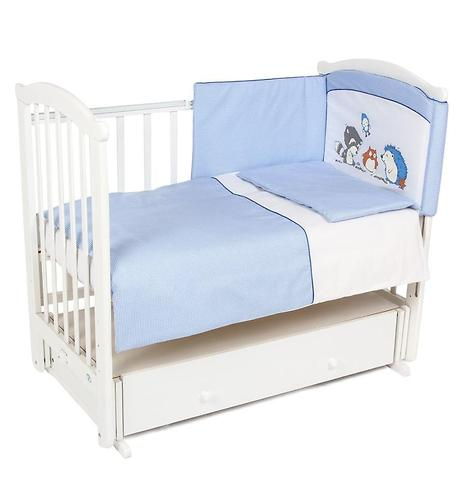 Комплект в кроватку Leader Kids 7 предметов Енот Голубой (1)
