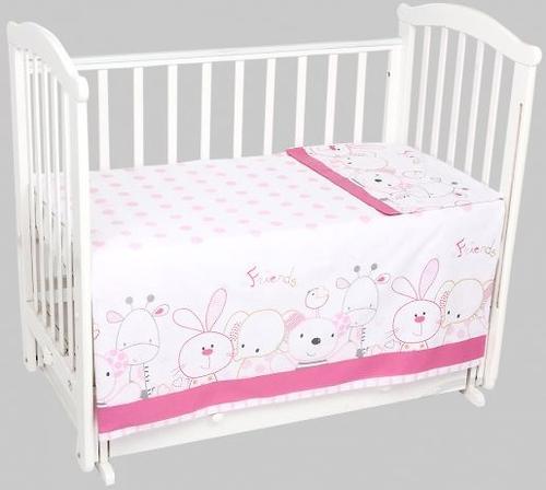 Комплект постельного белья 3 предмета Leader Kids Сафари Розовый (1)