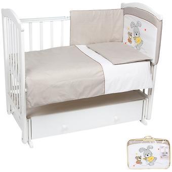 Комплект в кроватку Leader Kids Заяц с собачкой 7 предметов Кофе - Minim
