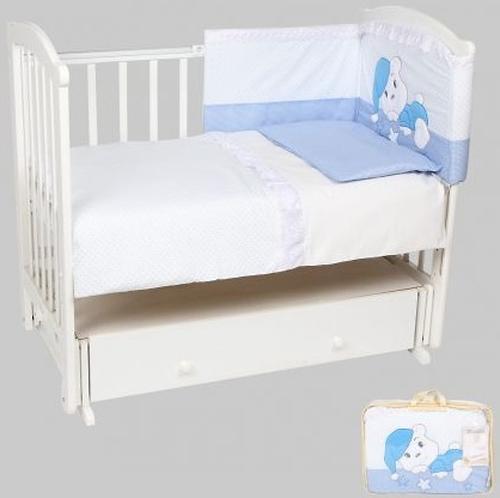 Комплект в кроватку Leader Kids Мечтатели 7 предметов Голубой (1)