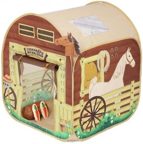 Палатка Leader Kids игровая Домик Ранчо (1)
