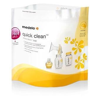 Пакеты для паровой стерилизации в микроволновке MEDELA QUICK CLEAN - Minim