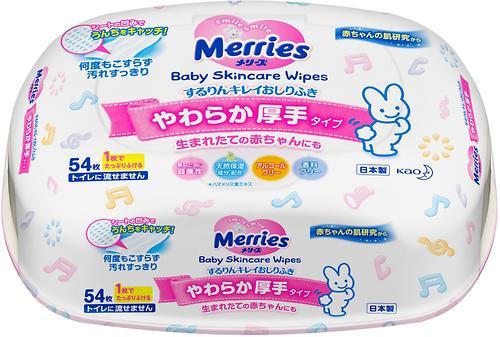 Салфетки влажные Merries в пластиковом боксе 54 шт (4)