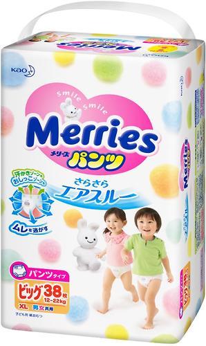 Подгузники-трусики Merries XL 12-22кг 38шт (5)