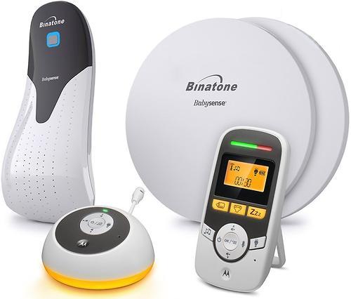 Радионяня Motorola MBP161 с монитором дыхания Timer and Binatone BabySense 5S (4)