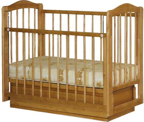 Кроватка Ксюша 2 ящика Орех (1)