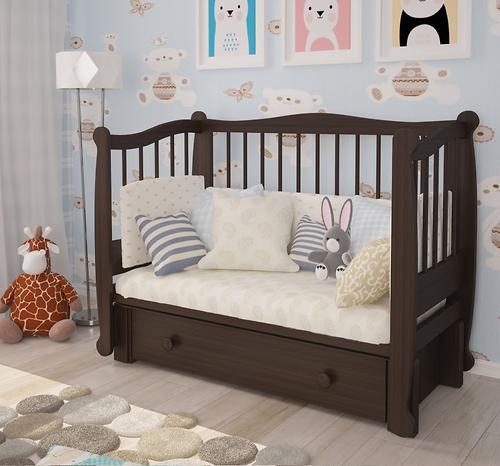 Кровать-манеж Можгамебель Алиса Белая (8)