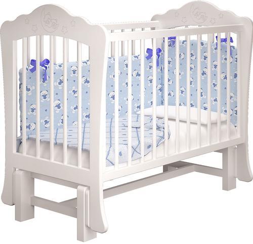 Кровать-манеж Можгамебель Амалия Белая с ящиком (8)