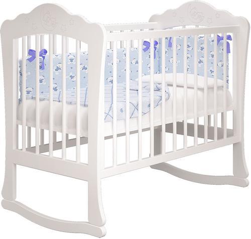 Кровать-манеж Можгамебель Амалия Белая с ящиком (10)
