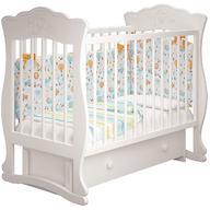 Кроватка Елена 3 Белая с ящиком