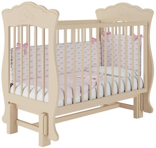 Кроватка Елена 2 Слоновая кость без ящика (9)