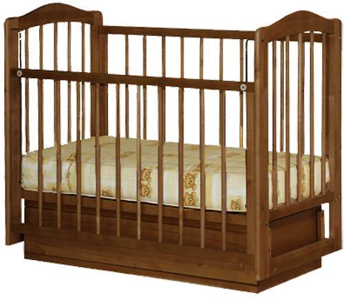 Кроватка Ксюша 1 ящик Орех (3)