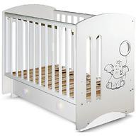 Кровать-манеж Софи 3 белая с ящиком Слоник