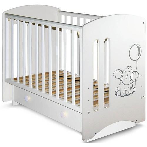 Кровать-манеж Софи 3 белая с ящиком Слоник (3)