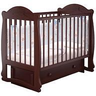 Кровать-манеж Можгамебель Мишутка Орех с ящиком