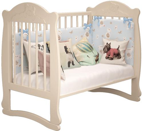 Кровать-манеж Можгамебель Мишутка 2 Белая без ящика (11)