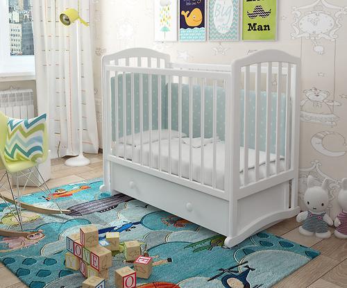 Кроватка Пикколо Белая (11)