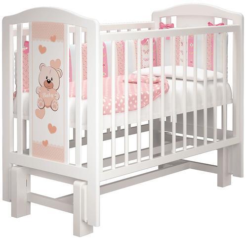 Кровать-манеж Можгамебель Тедди 2 Белая без ящика (7)