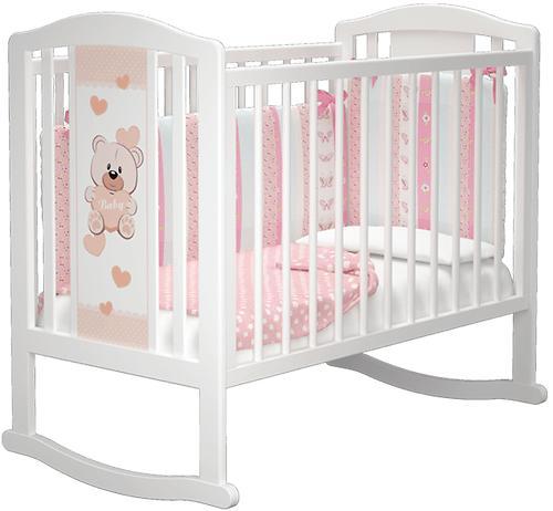 Кровать-манеж Можгамебель Тедди 2 Белая без ящика (8)