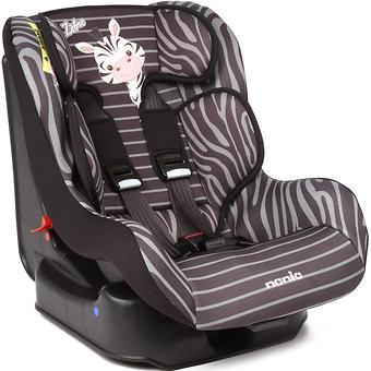 Автокресло NANIA Driver Anymals Zebre (черно-серое) - Minim