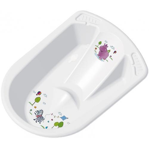 Ванночка OKT анатомическая Бегемотик белая (1)