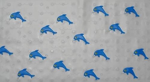 Коврик на присосках Дельфин 77х36 см (1)