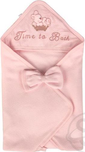 Комплект Babelek Sofija полотенце+рукавичка Розовый (3)