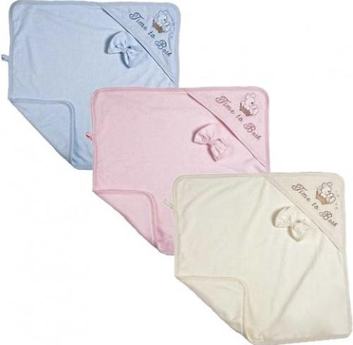 Комплект Babelek Sofija полотенце+рукавичка (голубой) (4)
