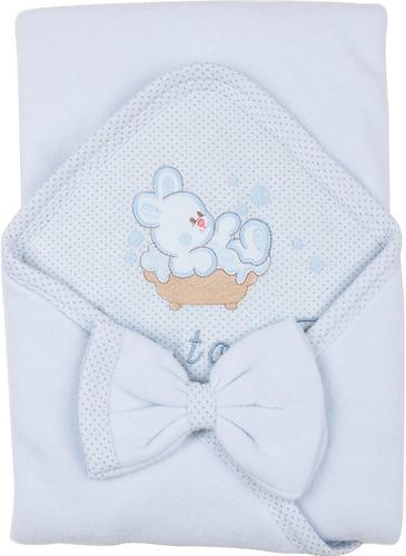Комплект Babelek Sofija полотенце+рукавичка (голубой) (3)