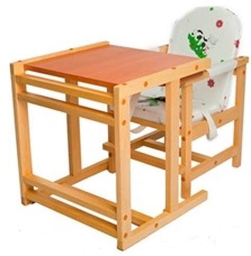 Стул-стол трансформер Октябренок Ромашки зеленые светлый дуб/бук (4)