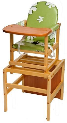 Стул-стол трансформер Октябренок Ромашки зеленые светлый дуб/бук (3)