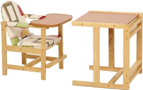 Стул-стол трансформер Октябренок Капучино светлый дуб/бук (4)