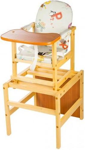 Стол-стул трансформер Октябренок Алфавит светлый дуб/бук (3)
