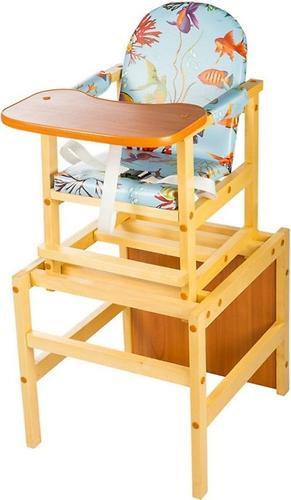 Стол-стул трансформер Октябренок Рыбки дуб/бук (1)