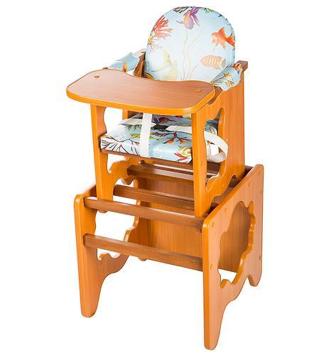 Уценка! Стол-стул трансформер Премьер Рыбки Светлый Орех (лдсп) (4)