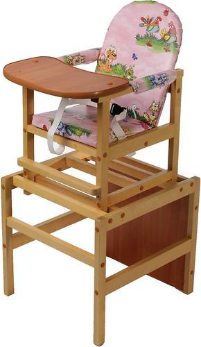 Стол-стул трансформер Октябренок Полянка светлый дуб/бук (1)