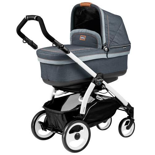 Коляска 3в1 Peg-Perego Set Modular Pop Up на шасси Book 51 Black/White Blue Denim (8)