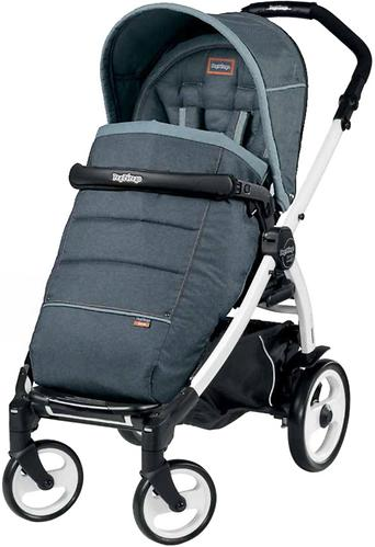 Коляска 3в1 Peg-Perego Set Modular Pop Up на шасси Book 51 Black/White Blue Denim (9)