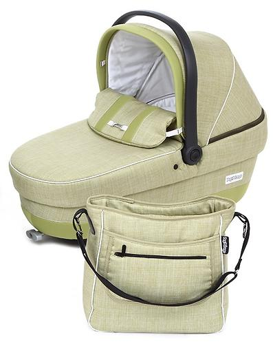 Коляска 3в1 Peg-Perego Set Modular XL на шасси Book Plus S Black-White цвет Luxe Grey/Green Tea (6)