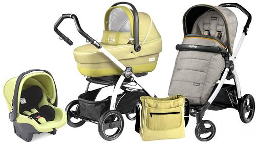 Коляска 3в1 Peg-Perego Set Modular XL на шасси Book Plus S Black-White цвет Luxe Grey/Green Tea (5)