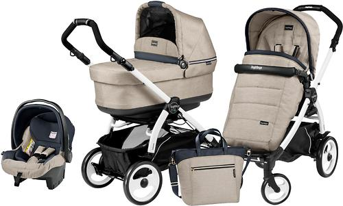 Коляска 3в1 Peg-Perego Set Modular Pop Up на шасси Book 51 Black/White Luxe Beige (7)
