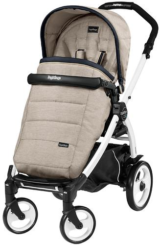 Коляска 3в1 Peg-Perego Set Modular Pop Up на шасси Book 51 Black/White Luxe Beige (9)