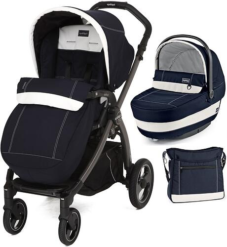 Коляска 2в1 Peg-Perego Book Plus S Completo шасси Book Plus S Jet Black Riviera (4)