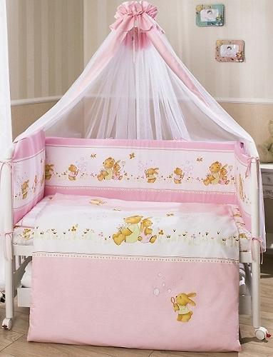 Постельное белье Perina Фея Лето розовое 7 предметов (5)