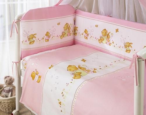 Постельное белье Perina Фея Лето розовое 7 предметов (7)