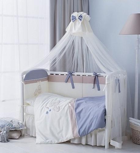 Комплект в кроватку Perina Котята Лазурь 4 предмета (4)