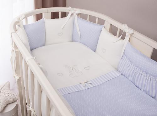 Комплект в кроватку Perina Неженка Oval 7 предметов НО7.4-125х65 Голубой (6)